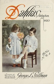 Cover of: Dahlias of distinction for 1920 | George L. Stillman (Firm)