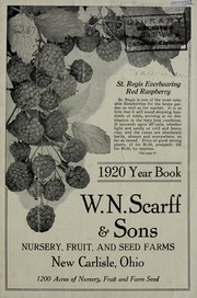 Cover of: 1920 year book | W.N. Scarff & Sons