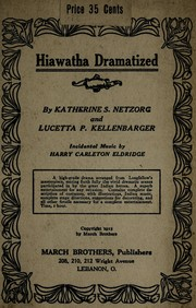 Cover of: Hiawatha dramatized | Henry Wadsworth Longfellow