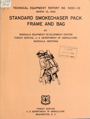 Standard smokechaser pack frame and bag