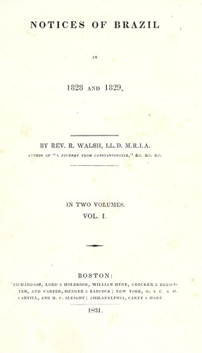 Notices of Brazil in 1828 and 1829.