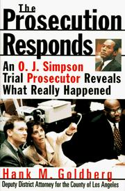 Cover of: The prosecution responds