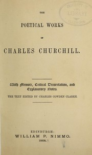 Cover of: The poetical works of Charles Churchill