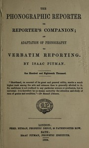 The phonographic reporter; or, Reporters companion