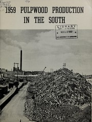 Cover of: 1959 pulpwood production in the South | Todd, A. S. Jr