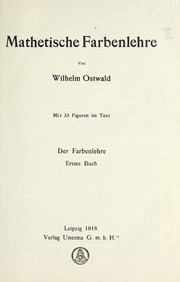 Cover of: Die Farbenlehre