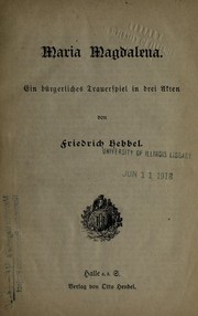 Cover of: Maria Magdalena