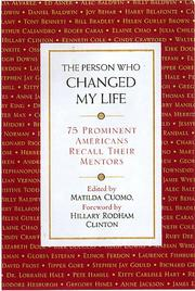 Cover of: The Person Who Changed My Life