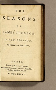 Cover of: The seasons | James Thomson