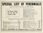 Cover of: Special list of perennials | E.F. Winterson Co