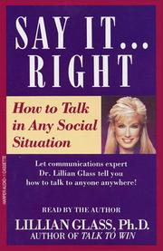 Cover of: Say It Right How To Talk in Any Social Situations