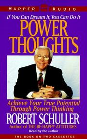 Cover of: Power Thoughts