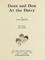 Cover of: Dean and Don at the dairy