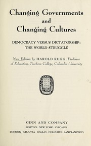Cover of: Changing governments and changing cultures