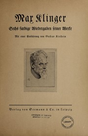Cover of: Max Klinger