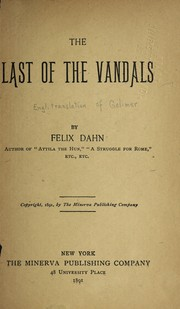 Cover of: The last of the Vandals