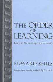 Cover of: The order of learning