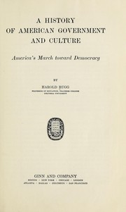 Cover of: A History of American Government and Culture