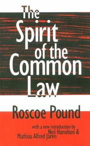 Cover of: The spirit of the common law
