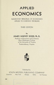 Cover of: Applied economics