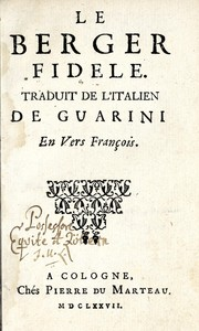 Cover of: Le berger fidelle