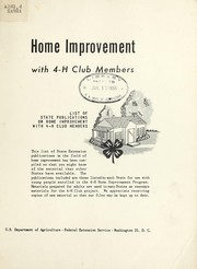 Cover of: Home improvement with 4-H club members | United States. Extension Service