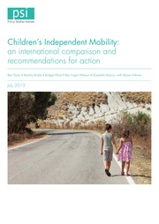 Cover of: Children's Independent Mobility: A Comparative Study in England and Germany (1971-2010)
