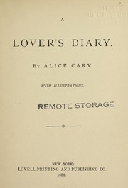 Cover of: A lover's diary