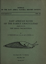Cover of: East African slugs of the family Urocyclidae