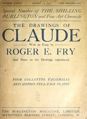 Cover of: The drawings of Claude | Roger Eliot Fry