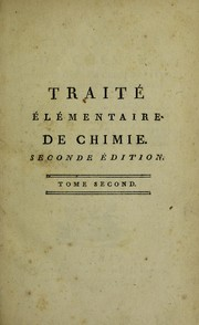 Cover of: Traite elementaire de chimie..