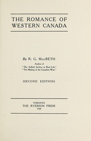 Cover of: The romance of western Canada