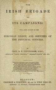 Cover of: The Irish brigade and its campaigns | David Power Conyngham