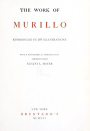 Cover of: The work of Murillo reproduced in 287 illustrations