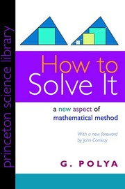 Cover of: How to solve it by George Pólya