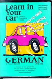 Cover of: Learn In Your Car: German