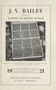 Cover of: Price list of fruit and shade trees, evergreens, flowering shrubs and small fruit plants | J.V. Bailey (Firm)