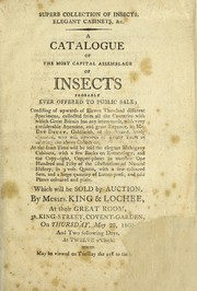 Cover of: Superb collection of insects, elegant cabinets, &c
