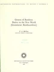 Cover of: Genera of bamboos native to the new world (Gramineae: Bambusoideae)