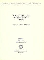 Cover of: A review of Philippine Hookeriaceous taxa (musci) | Benito Ching Tan
