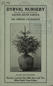 Cover of: 12th annual catalog | Dybvig Nursery