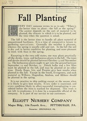 Cover of: Fall planting