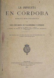 Cover of: La imprenta en Córdoba