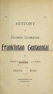 Cover of: History of Columbus celebration, Franklinton centennial