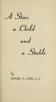 Cover of: A star, a child, and a stable