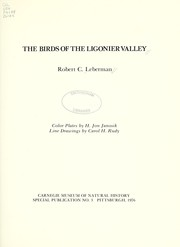 Cover of: The birds of the Ligonier Valley | Robert C. Leberman
