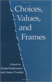 Cover of: Choices, Values, and Frames by