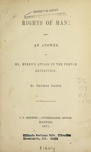 Cover of: Rights of man | Thomas Paine