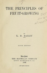Cover of: The principles of fruit-growing