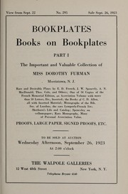Cover of: Bookplates, books on bookplates